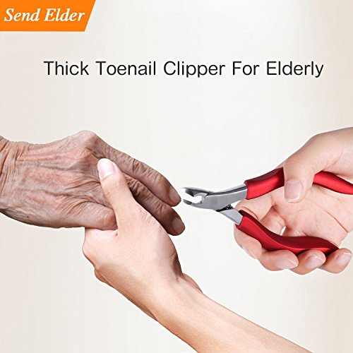Toenailclippersforelderly , Used For Thick Toenails 、Fungi Toenails 、Ingrown Toenails. Long Handle, Leather Packaging, Safe Storage