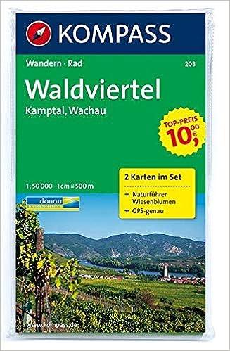 Wachau Karte.Waldviertel Kamptal Wachau 1 50 000 Wandern Rad 2 Teiliges Set