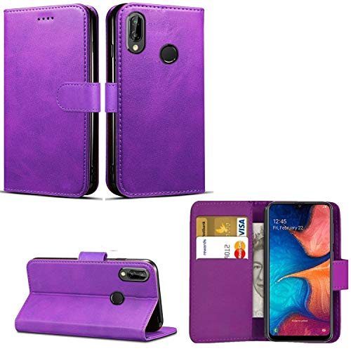mega.deals4u® SAMSUNG GALAXY A20e [2019] PU Leather Wallet Case Flip Book Phone Cover Standing Pouch – Slots for Credit…