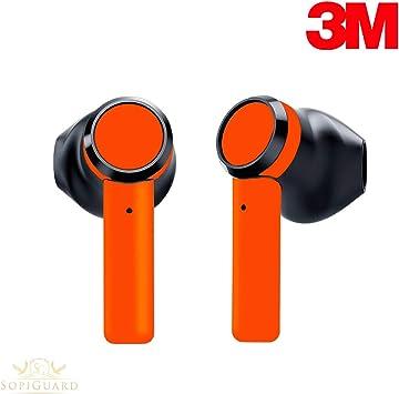 Amazon Com Sopiguard Skin For Razer Hammerhead True Wireless Earbuds Sticker Vinyl Wrap 3m Neon Orange Electronics