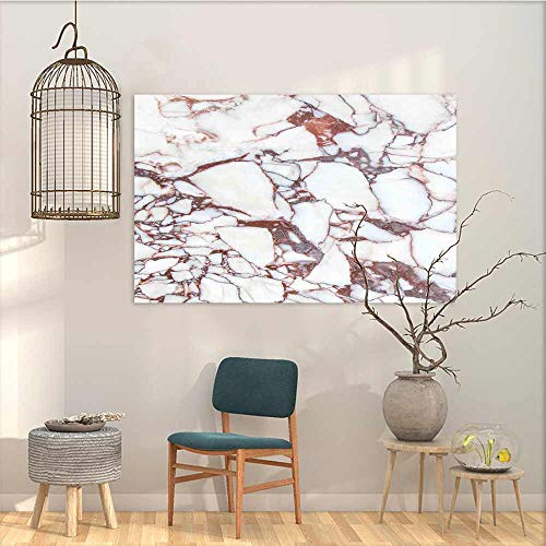 (Graffiti Canvas Painting Sticker Marble Dolomite Rocks Pattern with Characteristic Swirls and Cracked Lines Abstract Art On Canvas Abstract Artwork Beige Brown W23 xL15)