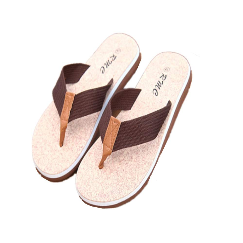 Mens Flip Flops Canvas Thong Sandals Flat Slide On Non Slip Slippers
