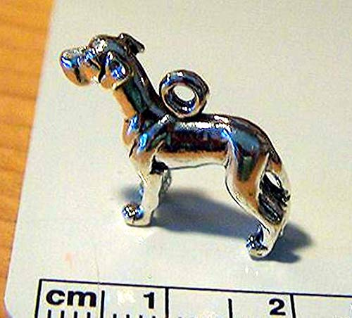 Dane Vintage Colors - Sterling Silver 3D 16x21mm Detailed Great Dane Dog Charm Vintage Crafting Pendant Jewelry Making Supplies - DIY for Necklace Bracelet Accessories by CharmingSS