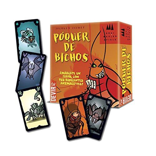 Devir - Póquer de bichos, juego de cartas