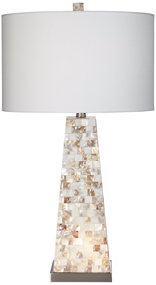 Lorin Mother of Pearl Table Lamp with Night Light