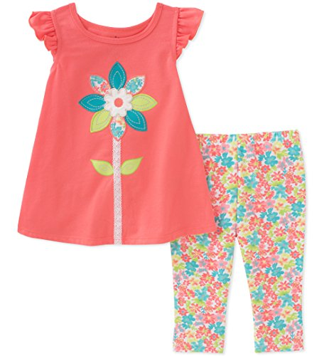 Kids Headquarters Toddler Girls' Tunic Set-Capsleeves, Melon, 2T by Kids Headquarters