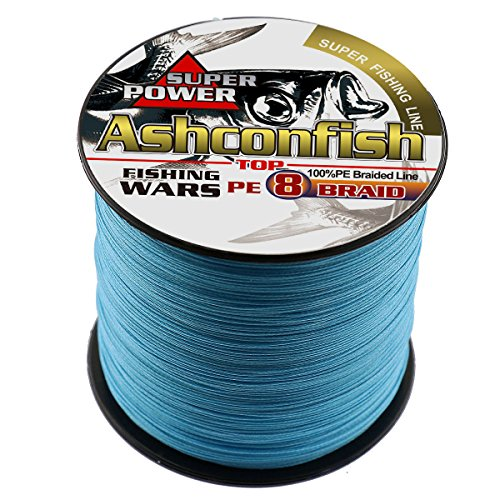 Ashconfish Braided Fishing Line-8 Strands Super Strong Fishing Wire 1000M 1093Yards-Abrasion Resistant Braided Lines-Incredible Superline-Zero Stretch-Superfine Diameter