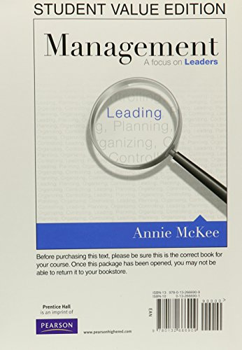 Management: A Focus on Leaders, Student Value Edition