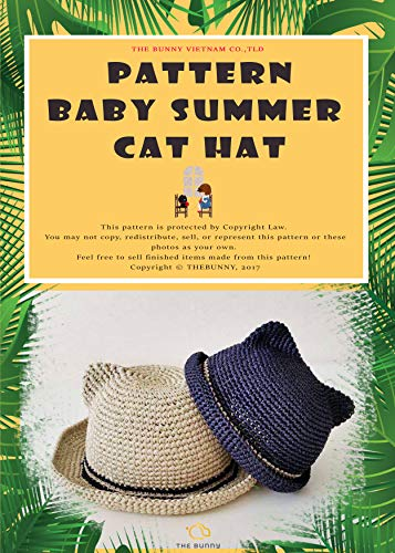 HOW TO CROCHET - BABY SUN HAT: CAT STYLE SUN HAT ()
