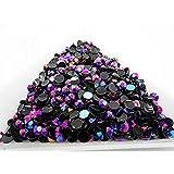 MajorCrafts® 2000pcs 3mm ss12 Dark Purple AB Flat Back Resin Rhinestones