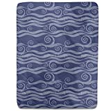 Waves And Twirls Fitted Sheet: King Luxury Microfiber, Soft, Breathable