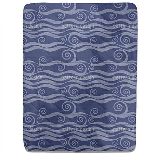 Waves And Twirls Fitted Sheet: King Luxury Microfiber, Soft, Breathable by uneekee