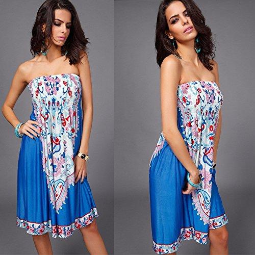 Up Cover Printing Sexy Coper Dress Women ® Summer Wear Swimsuit Blue Beach 5qZq6ztwx8