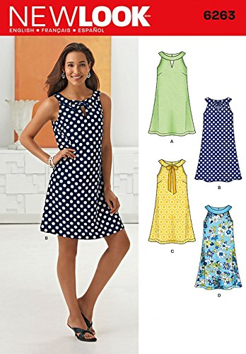 4e041818bd417a New Look Ladies Easy Sewing Pattern 6263 A Line Summer Dress: Amazon ...
