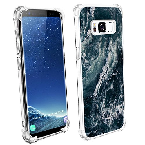 Price comparison product image Samsung Galaxy S8/S8 Plus Case Vanki Clear View Soft TPU Print Protective Cover (Samsung Galaxy S8 Plus, Color4)