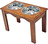 Crown Pet Products Pet Diner Elevated Raised Dog Bowls, X-Large, Chestnut