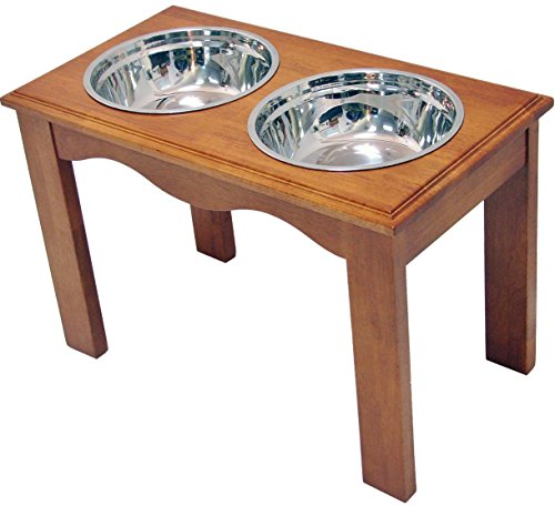 Crown Pet Products Pet Diner Elevated Raised Dog Bowls, X-Large, Chestnut by Crown Pet Products
