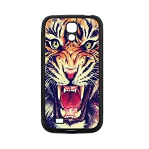 SamSung Galaxy S4 I9500 Case,Tiger Roar Hipster Quote Hign Definition Wonerful Design Cover With Plastic Protective Rubber Case