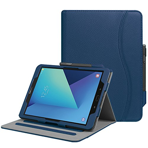 Fintie Case for Samsung Galaxy Tab S3 9.7, [Corner Protection] Multi-Angle Viewing Stand Cover Packet with S Pen Protective Holder Auto Sleep/Wake for Tab S3 9.7(SM-T820/T825/T827), Navy Blue
