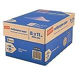 Staples Copy Paper, Multipurpose, 8 1/2'' x 11'', 96 Brightness (10 Ream Case) (4 Cases / 20,000 Sheets)