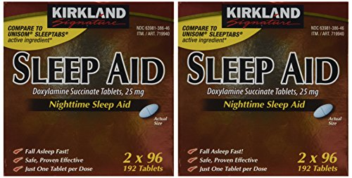Kirkland Signature Sleep Aid Doxylamine Succinate 25 Mg, 384Count (Best Otc For Sleep)