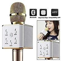 MULTIPLE Q7 Portable Multi-function Wireless Bluetooth Karaoke Microphone, RFV137