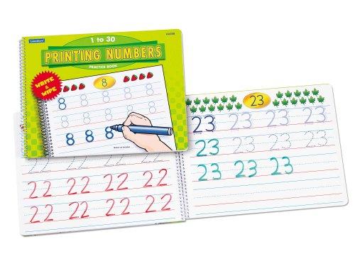 Number Printing (Lakeshore Printing Numbers Practice Book )