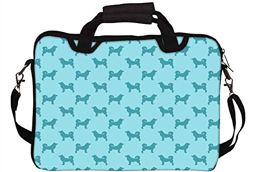 Snoogg Abstraktes Hund Muster Laptop Netbook Computer Tablet PC Schulter Case mit Sleeve Tasche Halter für Apple iPad/HP TouchPad Mini 210/Acer Aspire One und die meisten 24,6cm 25,4cm 25,7cm 25,9