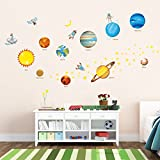 Decowall, DW-1307, Planets in the Space peel & stick Nursery wall decals stickers