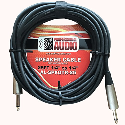 Speaker Cable Quarter to Quarter 25'- Adkins Professional Audio (Quarter 25)