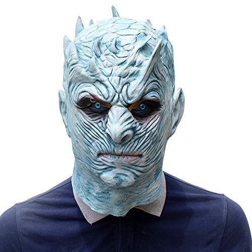 Eichzhushp Trick Treat Studios Men's Game of Thrones-Night's King White Walker Men's Full Head Mask