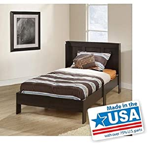 modern twin platform bed frame with headboard bedroom furniture cinnamon cherry