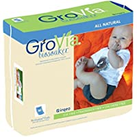 Image: GroVia BioSoaker   Made with biodegradable and compostable materials   Oeko-tex 100 certified   Fragrance and Dye Free   Plastic and Chlorine Free   G.E. Free