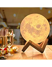 OxyLED Moon Lamp, 16 Colors 5.9 Inch 3D Print LED Moon Light with Stand Remote Touch Tap Control and USB Rechargeable, Night Light Dimmable for Kids Lover Friends Birthday Gifts