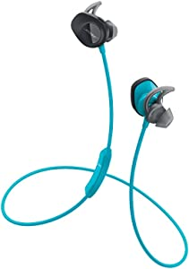 Bose SoundSport, Wireless Earbuds, (Sweatproof Bluetooth Headphones for Running and Sports), Aqua