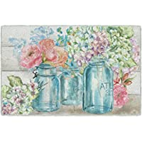 Brumlow Mills EW10336-30x46 Colorful Flowers in Mason Jar Kitchen and Entryway Floral Rug, 26 x 310
