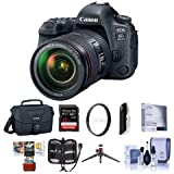 Canon EOS 6D Mark II DSLR EF 24-105mm f/4L IS II USM Lens - Bundle 32GB SDHC U3 Card, Camera Case, Table Top Tripod, Cleaning Kit, 77mm UV Filter Memory Wallet, Mac Software Package, More