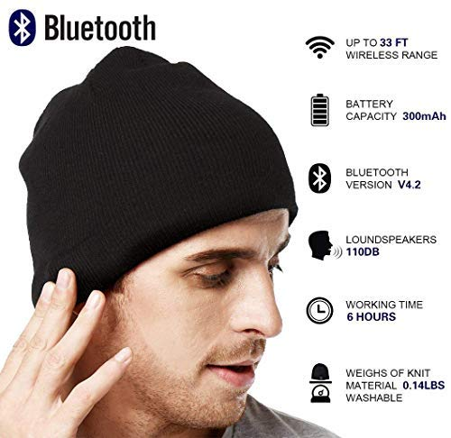254d9699d5047 Upgraded V4.2 Bluetooth Beanie Hat LUXISE Headphones Wireless Headset  Winter Music Speaker Hat Running