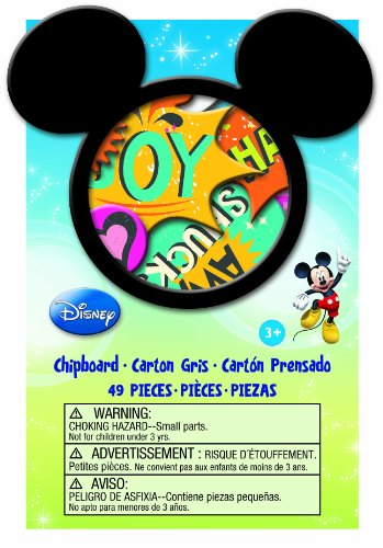 EK Success Brands Disney Chipboard Box, Mickey Family