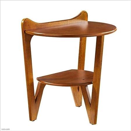 YNN Table Mesa Auxiliar del sofá Mesa de Centro semicircular de 2 ...
