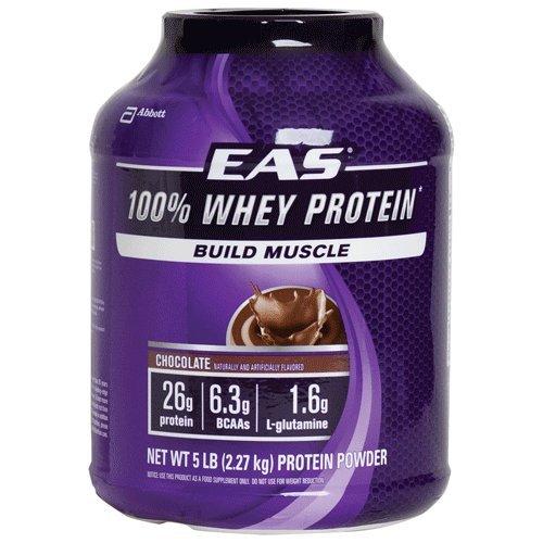 EAS 100% Pure Whey Protein Powder, Vanilla, 5 LB, 30 Grams of Whey Protein Per Serving (Packaging May - Protein Myoplex Whey