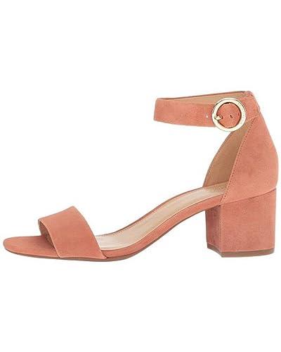 7ceeefa1141 Michael Michael Kors Womens Lena Suede Dress Sandals Brown 5 Medium (B