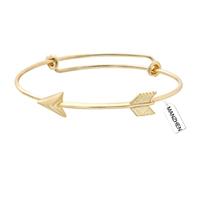 silver fashion bracelet products new women bangle for jewelry wholesale arrow gold