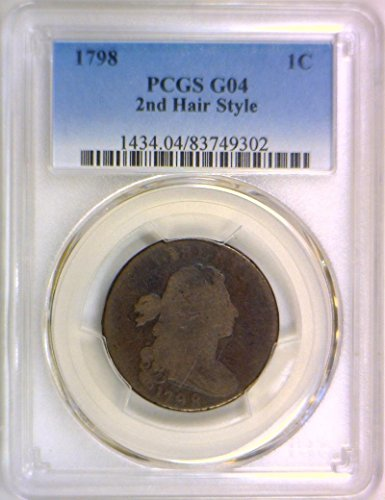 1798 P Draped Bust 2nd Hair Style, S-174; Cent G-04 PCGS