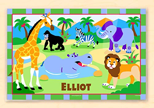 (Olive Kids Wild Animals Personalized Placemat)