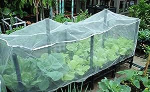 agfabric especial para cama de germinación jardín de barrera de insectos mosquitero con marco pájaro neto malla de jardín proteger bolsa