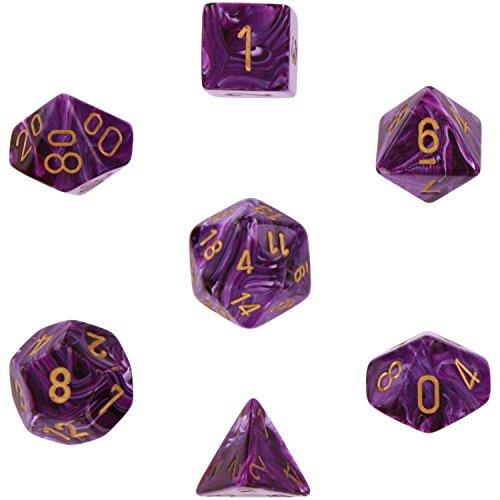 Chessex CHX27437 Dice-Vortex Purple/Gold Set, Multicolor