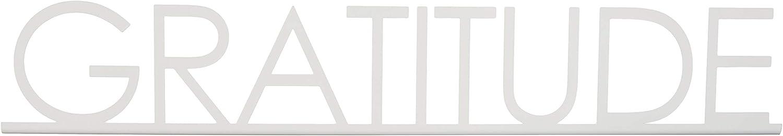 Creative Home & Garden Shelf & Mantle Home Word Art Decor Gratitude (White)