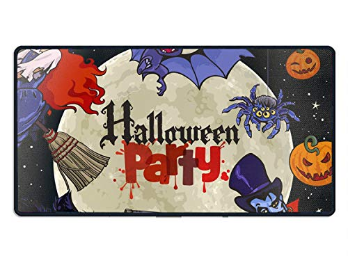 Halloween Cartoon Characters On Full Moon Non Slip Mouse Pad for Office, Computer, Laptop & Oversized Mouse mat 23.6