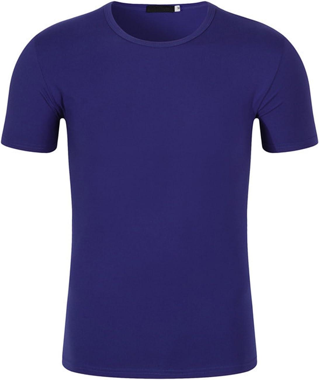 DOKKIA Men's Casual Tops Cotton Crew Neck Plain Short Sleeve Tees T-Shirt